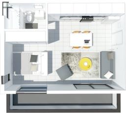 Guest Living Studio R Interior