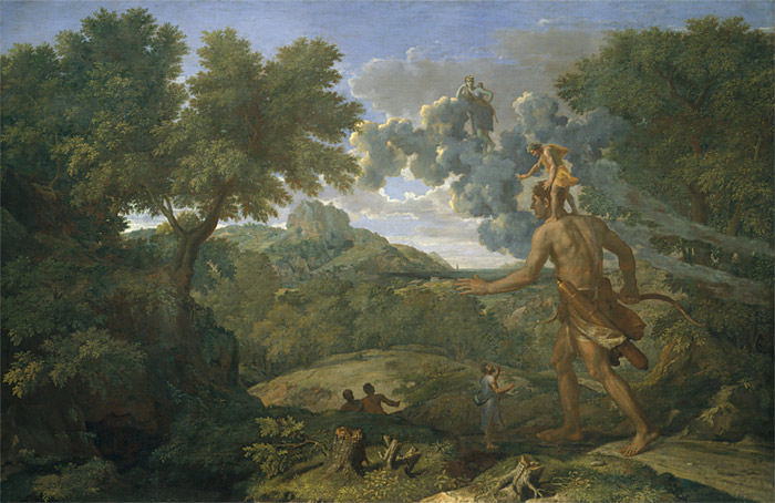 Blind Orion Searching for the Rising Sun – Artist: Nicolas Poussin (French, 1658)